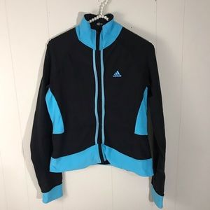 Adidas Women's Medium Blue Black Jacket